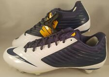 Nike Vapor Speed D Low Football Cleats Men's Size 12 Navy Blue White Yellow