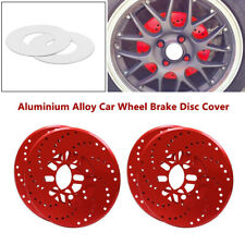 4x Universal Car Aluminum Wheel Brake Disc Cover Decorative Rotor Cross Drilled