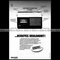 PHILIPS RADIO-CASSETTE N2223 AUTOMATIC VINTAGE 1974  Pub / Publicité / Ad #A1419