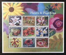 CONGO FLOWERS & BUTTERFLIES STAMP SHEET '01 MNH BUTTERFLY FLORA & FAUNA WILDLIFE
