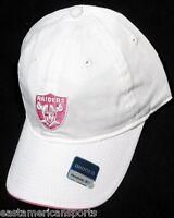 37e7c693df9 Oakland Raiders NFL Reebok Womens White Slouch Hat Cap Pink Logo Slide  Buckle