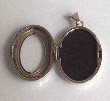 925 ECHT SILBER RHODINIERT *** Medaillon oval mit Sichtfenster