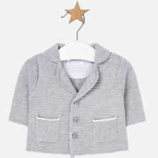 New Baby Boy Mayoral Knitted Jacket With Lapel Collar, Age Newborn, (1407)