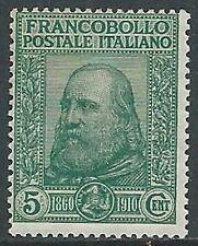 1910 REGNO GARIBALDI 5 CENT MNH ** - W252