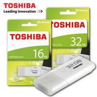 Toshiba Hayabusa 16GB 32GB Trans USB2.0 White Flash Drive Disk Memory Stick U202
