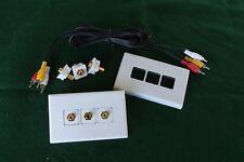 Audio-Video (AV) wall plates