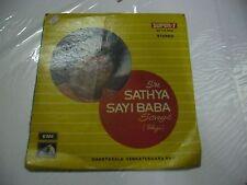 SRI SATHYA SAI BABA SONGS  GHANTASALA VENKATESHWAR RAO TELUGU rare EP 1974 VG+