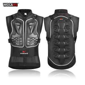 Motorcycle Motocross Back Protection Dirtbike Chest Protector Adult Armored Vest