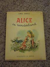 Vintage Lewis Carroll Alice In Wonderland Illustrated Book by Maraja