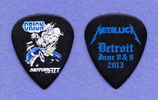 Metallica James Hetfield Orion Black Ultex Guitar Pick #2 2013 Tour Detroit