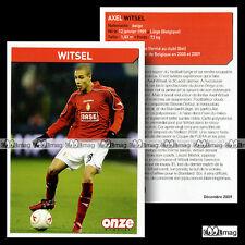 WITSEL AXEL (STANDART LIEGE) - Fiche Football 2009