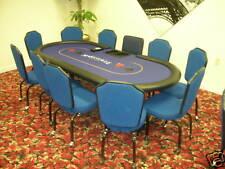 Custom Poker Table Casino Style, Dealer Tray, Steel Ped