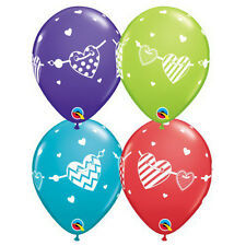 Party Supplies Birthday Love Heart Banner Assorted 28 cm Balloons Pk 10