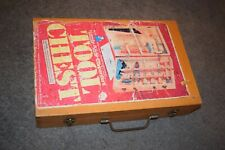 VINTAGE HANDY ANDY TOY TOOL CHEST CARPENTRY HAMMER PLANE PLIERS & More