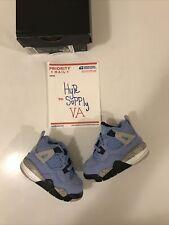AIR JORDAN 4 RETRO UNIVERSITY BLUE UNC Baby/Toddler Size 3C