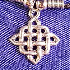 Plata tibetana Colgante Nudo Celta con un cordón Negro Regalo Collar Gargantilla