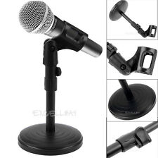 Foldable Mic Holder Tripod Desk Table Microphone Clip Stand Adjustable Holder