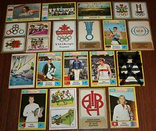 1972 MUNCHEN Olympic Games 18 unused stickers ORIGINAL Panini Badges Nordwig
