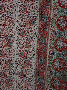 Cotton Throw Indian Style Wall Hanging Bedspread Red & Brown 170 x 259 cm