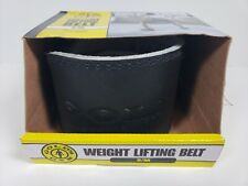 """Golds Gym Leather Weight Lifting Training Belt - Back Support - 22""""-33"""" S/M NEW"""