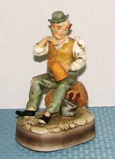 "Vintage Price Import 8 3/4"" Older Drinking Man Music Box Plays ""Auld Lang Syne"""