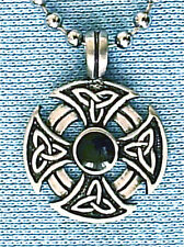 CELTIC CROSS KNOT PEWTER PENDANT MENS BOYS WOMENS GIRLS NECKLACES CHAIN  PC0029