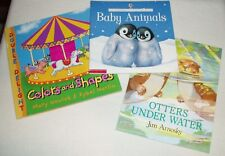 3 bks Usborne lift-the-flap Baby Animals *Colors & Shapes *Otters Under Water