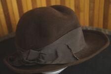 "MODELL LADY-LIKE Vintage Brown Felt Hat S 52 cm / 20.5"" diam., 2""  /5.5 cm Brim"
