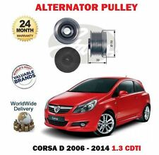 FOR VAUXHALL OPEL CORSA D 1.3 CDTI 2006-2014 NEW FREEWHEEL ALTERNATOR PULLEY