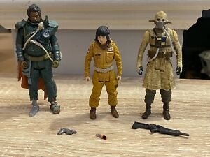 Star Wars Rise of Skywalker 3.75 Inch Figures Rose and Others with Weapons Loose