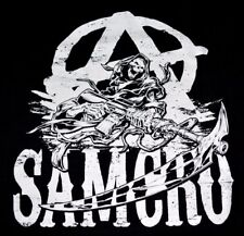 Sons of Anarchy SOA SAMCRO REAPER Womens T-Shirt SLIT BACK, Official Clothing!!!