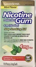 Nicotine Polacrilex Gum mint flavor 4mg 110 pcs Good Sense  exp.1/2022