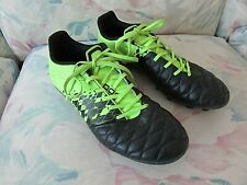 KIPSTA Sport Football Soccer Boots, Size - US 9.5, EUR 41, Leather, Black/Lime