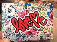 Motivational LOVE ME Duct Tape Wallet Handcrafted Graffiti Shakespeare Hamlet