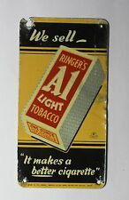 Small rare A1 Cigarette tobacco advertisement sign from machine not enamel 1950.