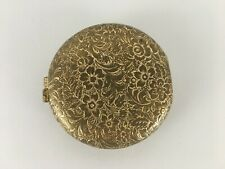 "Vintage Revlon Love-Pat compact gold tone pressed powder 2"" (s2)"
