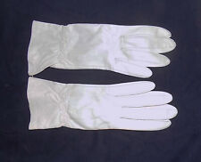 NOS Vintage White Leather Gloves by Superb Size 7
