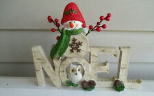 New ListingChristmas Holiday Snowman Noel Table Top Decoration ~ New