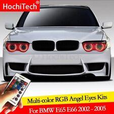 For BMW E65 E66 745i 745Li 760Li 760i 02-05 DRL Angel Eyes LED RGB Multi-color
