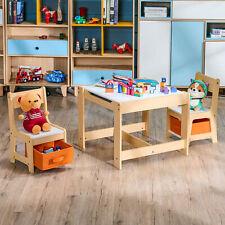 3tlg. Kindersitzgruppe Sitzgruppe Kindertisch mit Stühlen Kindermöbel Maltisch