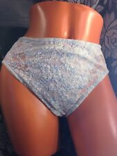 Vintage Olga Hi-Cut Panties w/Mesh and Lace Front Panel Style 20038