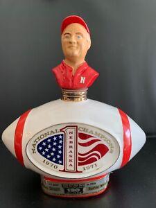 Vintage Jim Beam Nebraska Cornhuskers 1970-1971 National Champions Decanter