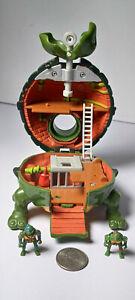 TMNT Mini Mutants Leonardo's LEO LAIR Playset Teenage Ninja Turtles 1994 Micro