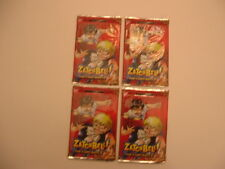 (4) 2005 ZATCHBELL ! (The Card Battle)BOOSTER SERIES 1 TRADING CARDS.NEW SEALED.
