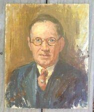 fine old oil canvass painting artist self portrait signed John Emman