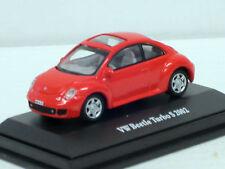 VW Volkswagen Beetle Turbo S 2002 in rot, mit Vitrine, TCM / Hongwell, 1:72