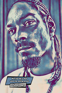 Snoop Dogg Comic Icons Art Print (Available In 4 Formats)