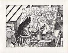 Kliban Cats. Cat artist...Roots. Vintage 1981 print. 9 x 11