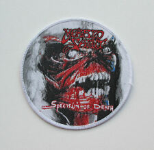 MORBID SAINT [white]  --- Woven Patch / Sadus Kreator Possessed Merciless
