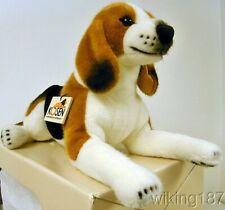 KOSEN Of Germany #7300 NEW Tan, Black & White Lying Beagle Dog Plush Toy